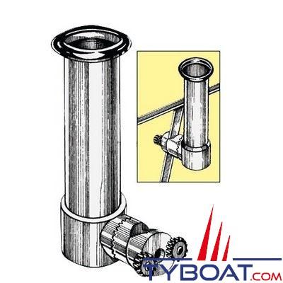 achat P  porte canne orientable osculati inox pour balcon diametre mm