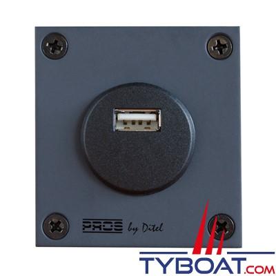 Pros by Ditel - Module prise USB - 5V/2.1A - 12/24V - PROSSUSB