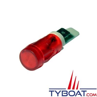 Pros by Ditel - Témoin lumineux LED - Ø 12 mm - Rouge - 12/24Vdc - 23400070