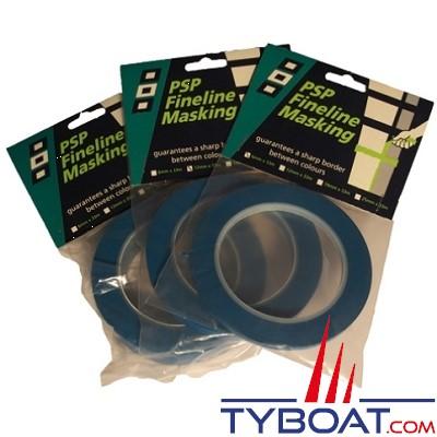 PSP Marine Tapes - Bande de precision masquage -  bleue - résistant à 90° - Longueur 33 m x largeur 6 mm