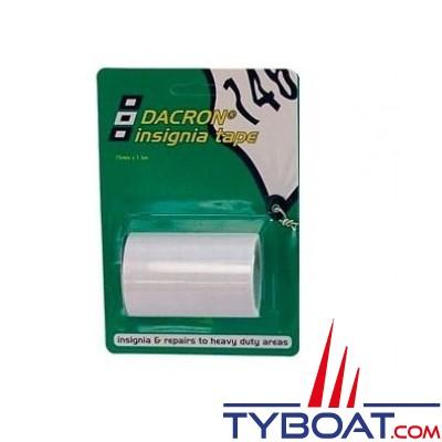 PSP Marine Tapes - Dacron Insigna autocollant réparation voile 0.75x1.50m - blanc