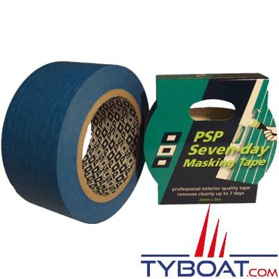 PSP Marine Tapes - Ruban de masquage bleue - résistant à 90° - Longueur 25 m x largeur 25 mm