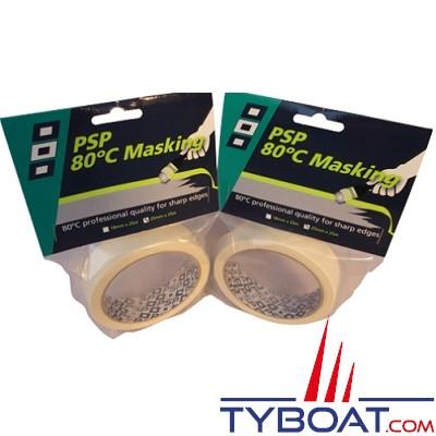 PSP Marine Tapes - Ruban de masquage résistant à 80° - Longueur 25 m x largeur 25 mm