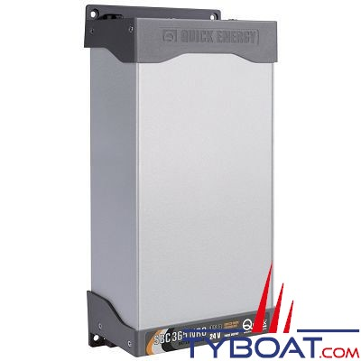 Quick - Chargeur de batterie SBC NRG - 24 Volts - 15 Ampères - 3 sorties