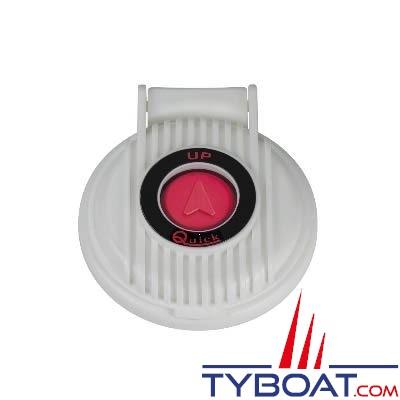 Quick - Contacteur à pied pour guindeau - Bouton rouge capot blanc - 5 Ampères