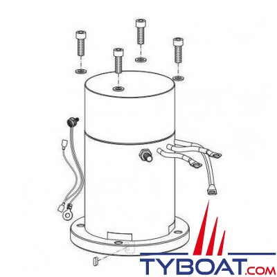 Quick - Moteur 3,3 kW + protection thermique pour BTQ 185 -12V - FVEMFEL33121800