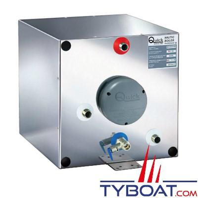 QUICK NAUTICAL - BXS 40 Nautic Boiler - Chauffe-eau marin sur circuit de refroidissement moteur ou 220 Volts - 500w - Gamme cubique