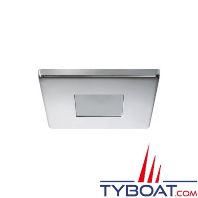 Quick - Spot carré LED Edwin Inox - 10/30 Volts - Blanc naturel - Ø 72 mm