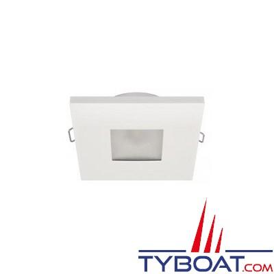 Quick - Spot carré LED Edwin N plastique - 10/30 Volts - Blanc chaud - Ø 72 mm