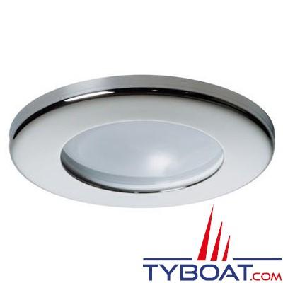 Quick - Spot halogène Teo Inox - 12 volts - 10 Watts - Ø 72 mm