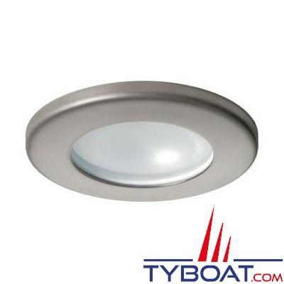 Quick - Spot halogène Teo Inox - Satiné - 12 Volts - 10 Watts - Ø 72 mm
