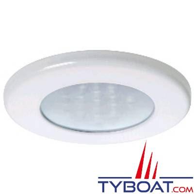 Quick - Spot LED Ted blanc - 10/30 Volts - Blanc chaud - Ø 72 mm