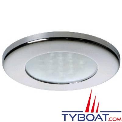 Quick - Spot LED Ted Inox - 10/30 Volts - Blanc chaud - Ø 72 mm