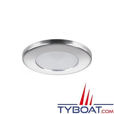 Quick - Spot LED Ted Inox - 10/30 Volts  - Blanc naturel - Ø 72 mm