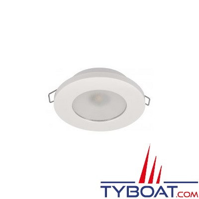 Quick - Spot LED Ted N plastique - 10/30 Volts - Blanc chaud - Ø 72 mm
