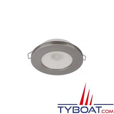 Quick - Spot LED Ted N plastique - Gris - 10/30 Volts - Blanc chaud - Ø 72 mm