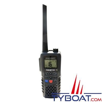 RADIO OCEAN : POCKET5600 VHF PORTABLE 6W - Etanche et Flottante - Bluetooth - Lumière à éclat