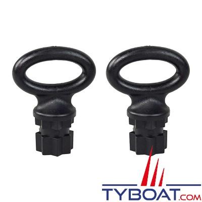 Railblaza - Boucle Webeye 30 millimètres - noir (sachet de 2)