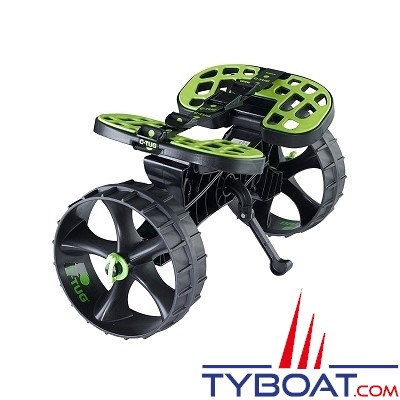 Railblaza - Chariot demontable SandTrakz - C-Tug avec roues anti crevaison - Charge 80 Kilos
