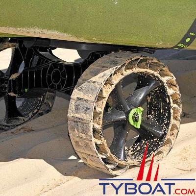 Railblaza - Roue de chariot C-Tug SandTrakz - lot de 2