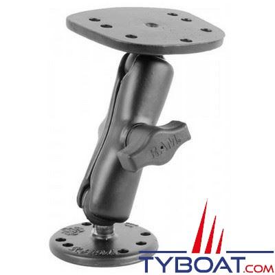 Ram mounts - Support horizontal RA-H1 pour appareils type Cuda