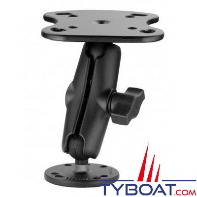 Ram Mounts - Support horizontal RA-H5 pour appareils Lowrance Mark & Elite