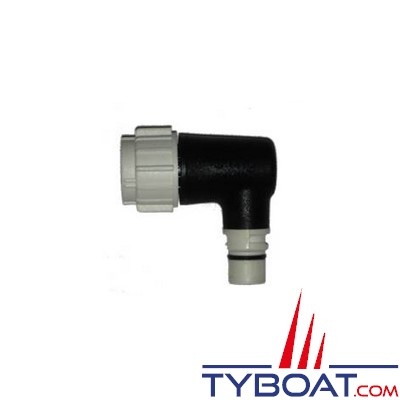 Raymarine - Adaptateur coudé Seatalk NG pour câble branche (blanc)