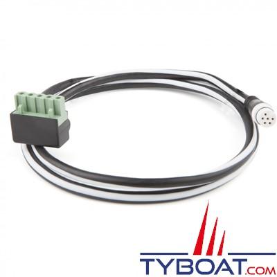 RAYMARINE - Câble branche STNG vers prise moulée SPX ou ACCU