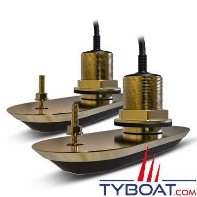 RAYMARINE - Pack de transducteurs passe-coque (2)  en bronze RV-220 (avec inclinaison à 20°)