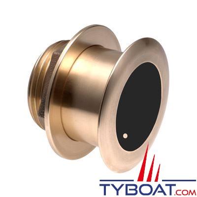 RAYMARINE - Sonde P/T traver. 20° bronze profilée B164  (Branchement direct)