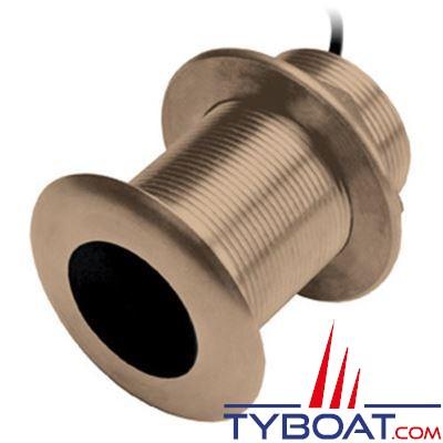 RAYMARINE - Sonde traversante bronze B60DT inclinée à 12° - connecteur série a/c/e/es