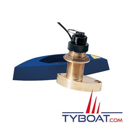 RAYMARINE - Sonde  P/V/T B744V traversante bronze avec sabot - connecteur série a/c/e/es