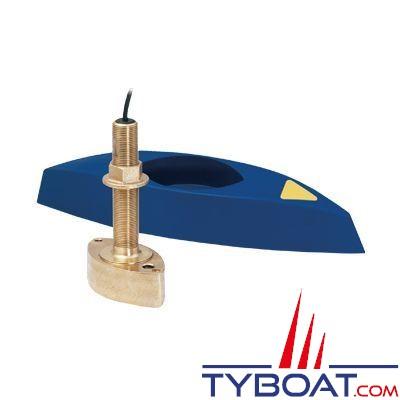 RAYMARINE - Sonde traversante bronze longue profondeur câble 13,8m