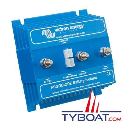VICTRON ENERGY - Répartiteur de charge ArgoDiode 120-2AC 1 entrée 2 sorties 12/24 Volts 120 Ampères avec borne de référence
