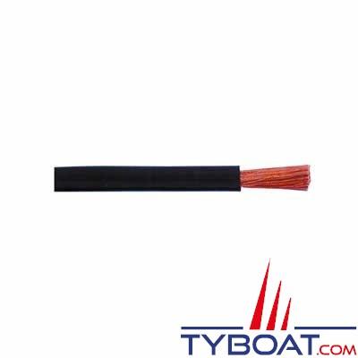 Câble monoconducteur souple Ø  1 mm²  gaine noir -  Longueur 25 mètres