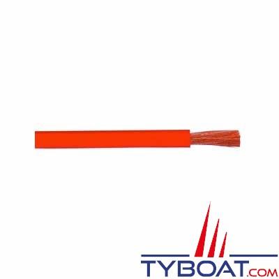 Câble monoconducteur souple Ø  5 mm²  gaine rouge -  Longueur 25 mètres