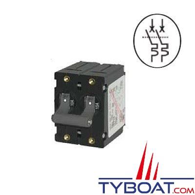 Disjoncteur magn to thermique bipolaire type 7236 toggle 20a manette noire reya - Disjoncteur magneto thermique ...
