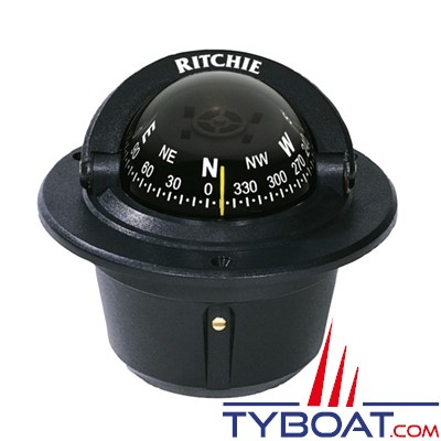 RITCHIE - Compas à encastrer F-50 série Explorer - couleur noir / lecture noire