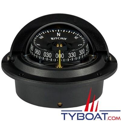 RITCHIE - Compas à encastrer F-83 série Voyager certifié Wheelmark - couleur noir