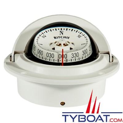 RITCHIE - Compas à encastrer F83 série Voyager certifié Wheelmark - couleur blanc