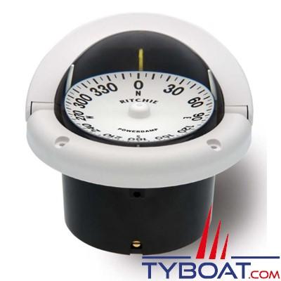 RITCHIE - Compas à encastrer HF-742W série Helmsman - couleur blanc / lecture blanc