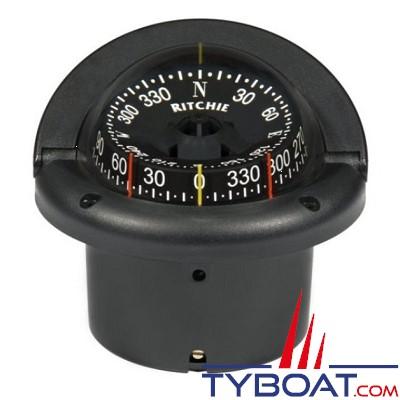 RITCHIE - Compas à encastrer HF-743 série Helmsman - couleur noir/ lecture noir