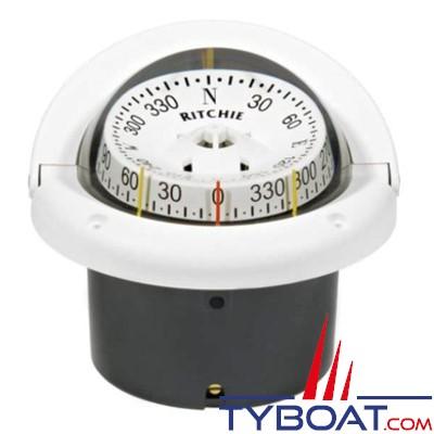 RITCHIE - Compas à encastrer HF-743W série Helmsman - couleur blanc / lecture blanc