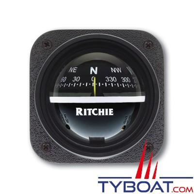 RITCHIE - Compas pour tableau de bord V-537  série Explorer - couleur noir / lecture noire