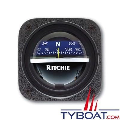RITCHIE - Compas pour tableau de bord V-537B  série Explorer - couleur noir / lecture bleue