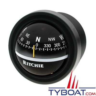 RITCHIE - Compas pour tableau de bord V-57.2  série Explorer - couleur noir / lecture noire