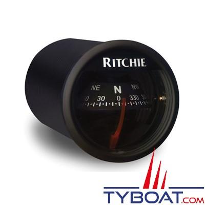 RITCHIE - Compas pour tableau de bord X-21BB  série RitchieSport - couleur noir / lecture noire
