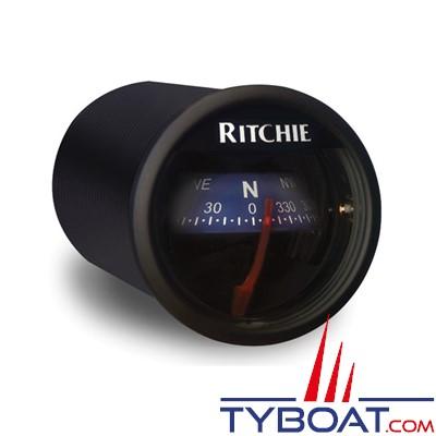 RITCHIE - Compas pour tableau de bord X-21BU  série RitchieSport - couleur noir / lecture bleue