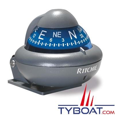 RITCHIE - Compas sur étrier X-10-M  série RitchieSport - couleur gris / cadran bleu
