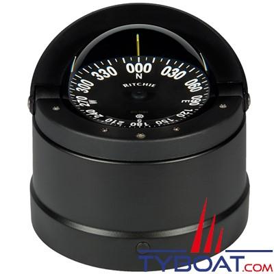 RITCHIE - Compas sur fût DNB-200 série Navigator certifié Wheelmark - couleur noir